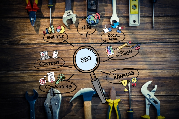 Top-view-of-tools-for-marketing